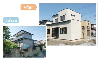 昭和51年築の建物を現代的に増改築しました