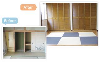 和室のクロス・建具・畳を改装しました