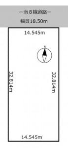 西3南35 地積図
